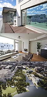 SOUTHERN FINLAND, Helsinki city centre, new 2 bedroom penthouse, listing WH8107